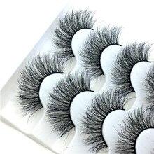 5 pares de pestañas postizas de pelo natural 6D extensión de pestañas largas gruesas y esponjosas herramientas de maquillaje de ojos hechos a mano pestañas postizas FD