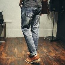 Мужская Одежда Джинсы мужские мода 2017 весной и летом джинсы Харлан Японский дизайн небольшой стрейч прилив мужской важно