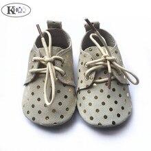 ; обувь из мягкой кожи; Мокасины на шнуровке для маленьких мальчиков и девочек; нескользящие Туфли-оксфорды для новорожденных