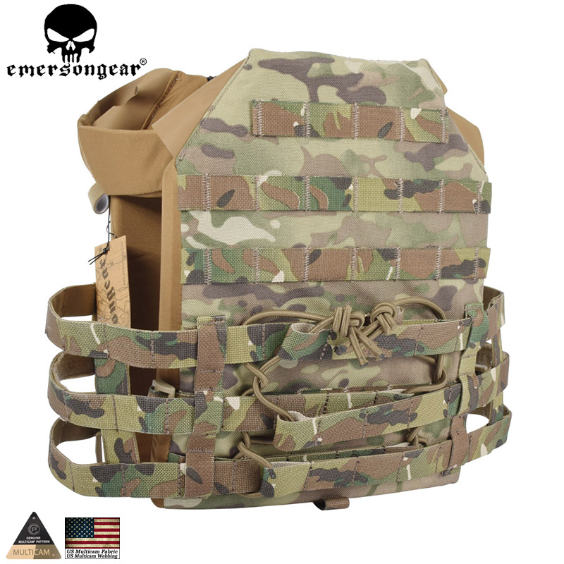 EMERSONGEAR Tactical JPC Vest Simplified Version Hunting Airsoft Molle Vest with Chest Protective Plate Carrier Paintball Vest стоимость