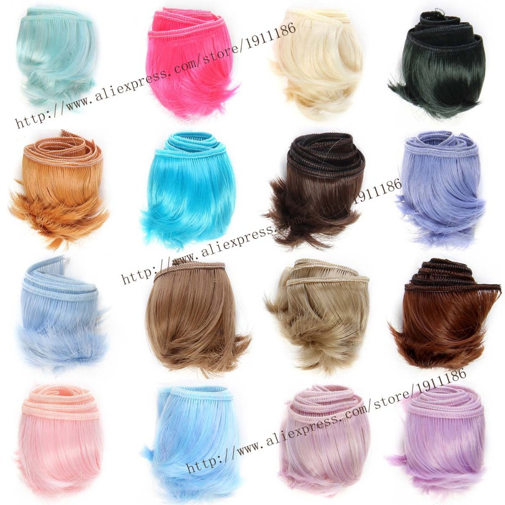 1pcs 5cm*100cm Short volume wigs/hair for doll  1/3 1/4 bjd/SD Things for dolls 1pcs bjd sd doll wigs accessories 15cm