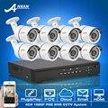 Anran plug & play kit de video vigilancia 8ch poe onvif 2.0 megapixel 1080 p hd h.264 ir impermeable al aire libre de seguridad sistema de cámara