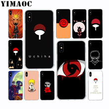 Naruto Uchiha Case for Apple Iphone Xr Xs 6S 6 Plus SE 5S 5 7Plus 8Plus Cover
