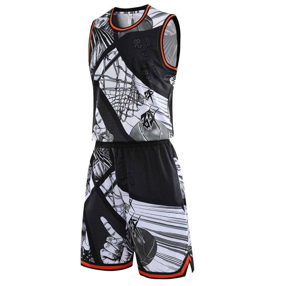 ผู้ชายบาสเกตบอล Jerseys ชุดกีฬาชุดเสื้อผ้าผู้หญิงบาสเกตบอล Jersey ชุดเสื้อกางเกงขาสั้นชุดที่กำหนดเองชื่อโลโก้พิมพ์