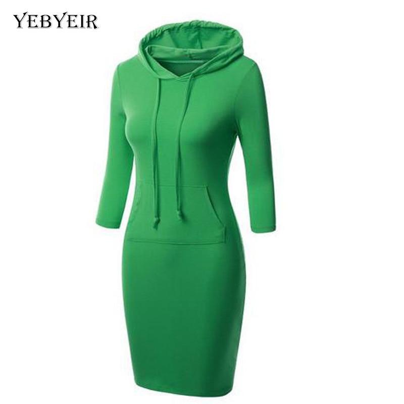 Autumn Winter 2016 Women Black Green Sweater Dress cotton Warm comfortable Long Sleeve Slim Maxi middle Long Dresses