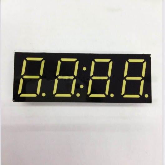 Бесплатная доставка общий катод 0.8 дюймов цифровые часы трубки 4 биты цифровой пробки светодиодный дисплей 0.8 дюймов белый цифровой трубки