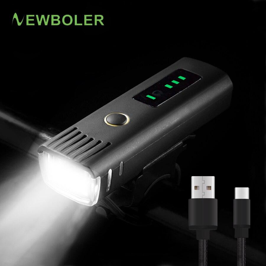 NEWBOLER 350 Lumen Flashlight For Bike Anti-glare Por Bicycle Light USB Rechargeable Battery Cycling Headlight Bike Accessories