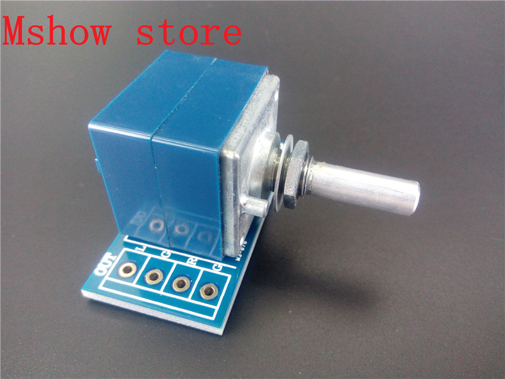 10 pcs Japan ALPS Volume control 27 type Dual potentiometer 10K 50k 100K RK27 Round shaft With adapter PCB*10 1pc 10k 20k 50k 100k 250k 500k japan alps rk27 double stereo potentiometer 10 500kax2 knurled shaft rk27 rotary switch 6pin