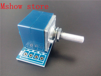 10 pcs Japan ALPS Volume control 27 type Dual potentiometer 10K 50k 100K RK27 Round shaft With adapter PCB*10