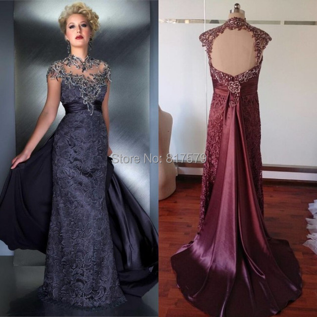 A Line Cap Sleeve Silver Gray Beaded Floor Length Mother Of The Bride Tropical Dresses