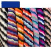 Jacquard fox fur imitation raccoon hair colorful artificial plush fur ball fur collar faux fur fabric