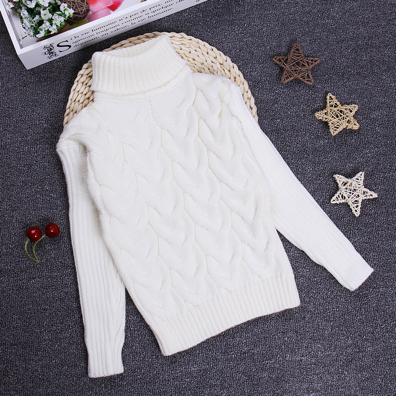 2016 Girls Boys Sweaters Jumper 2 3 4 6 8 10Y Children Kids Knitted Pullovers Turtleneck