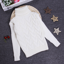 2016 Girls Boys Sweaters Jumper 2 3 4 6 8 10Y Children Kids Knitted Pullovers Turtleneck Winter Autumn Warm Outerwear KC-1547-9