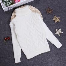 2016 Girls Boys Sweaters Jumper 2 3 4 6 8 10Y Children Kids Knitted Pullovers Turtleneck Winter Autumn Warm Outerwear KC-1547-9