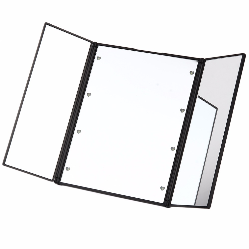Ausdauernd Tragbare Größe 8 Leds Rechteck Geformt Tri-gefaltet Desktop Spiegel Make-up Led Spiegel Lichter Gesundheit Schönheit Werkzeug Professionelle Spiegel Schminkspiegel