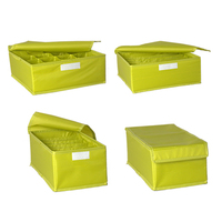 !SET OF 3pcs Colorful Washable Foldable 16 Compartments Underwear Storage Box Free shipping