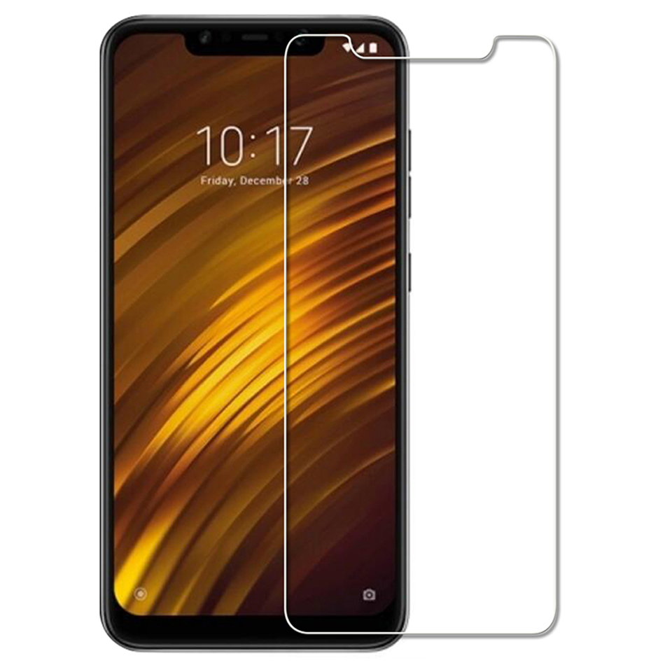 Transparent Screen Glass for Xiaomi Pocophone F1 Tempered Glass on Xiaomi Poco F1 9H HD Hardness Glass for Xiaomi Pocophone F1 in Phone Screen Protectors from Cellphones Telecommunications