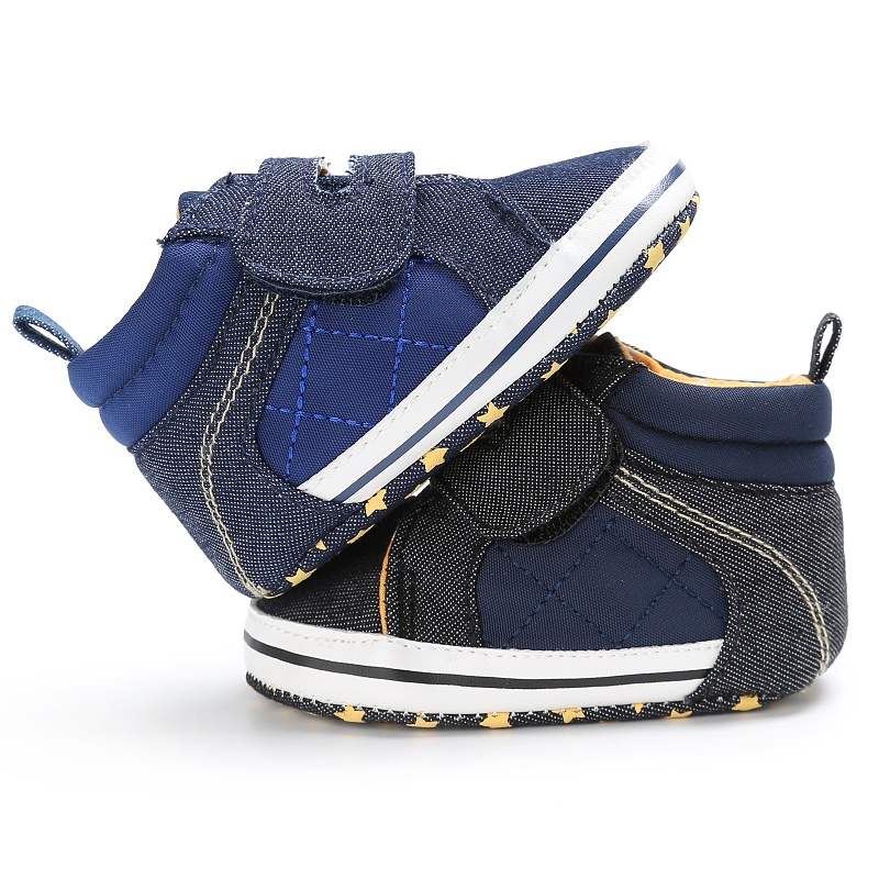 Patch Fashion Kids Shoes Baby Boy Canvas New First Walkers Newborn Baby Shoes Children Shoes