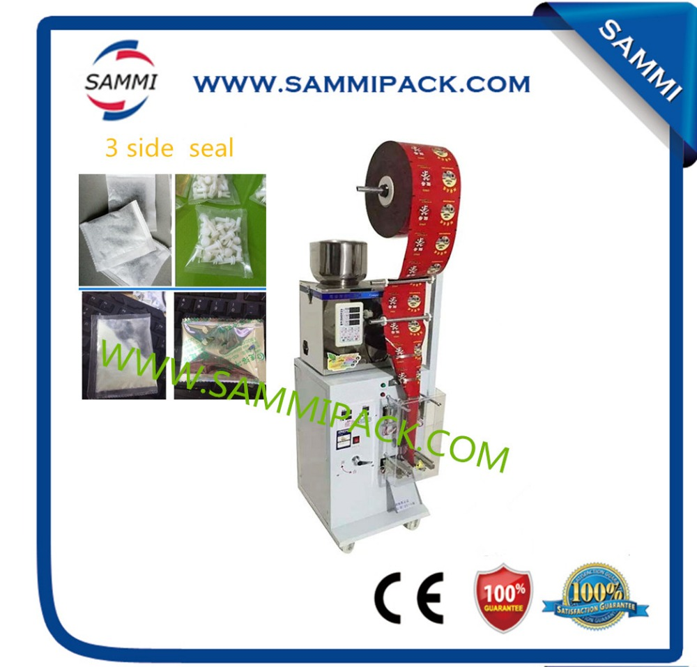 High precision SMFZ-70 3 side seal tea bag packing machine 2g to 100g for seed, tea