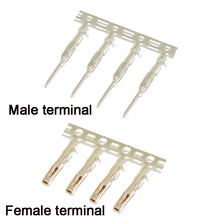 100/200 шт для Dupont коннектор тростник tinnyess медь 2,54 мм металлический терминал Femal или Male Pin
