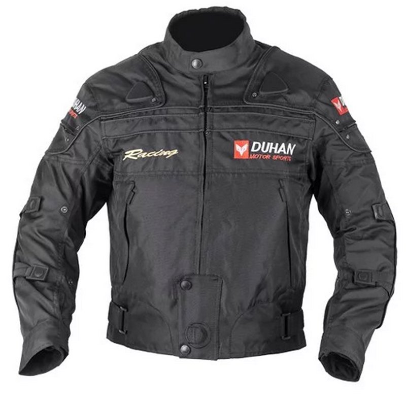 ФОТО DUHAN Motocross Racing Jacket Motorcycle Jackets with body Armor Protective Windproof Jaqueta Clothing