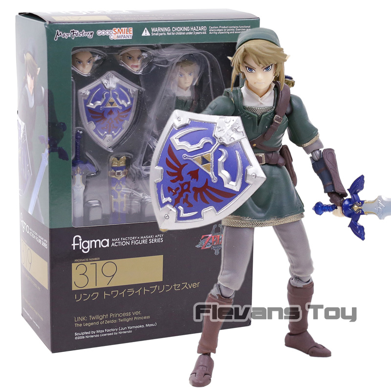 The Legend of Zelda LINK Twilight Princess Ver figma 319 PVC Action Figure Collectible Model ToyThe Legend of Zelda LINK Twilight Princess Ver figma 319 PVC Action Figure Collectible Model Toy