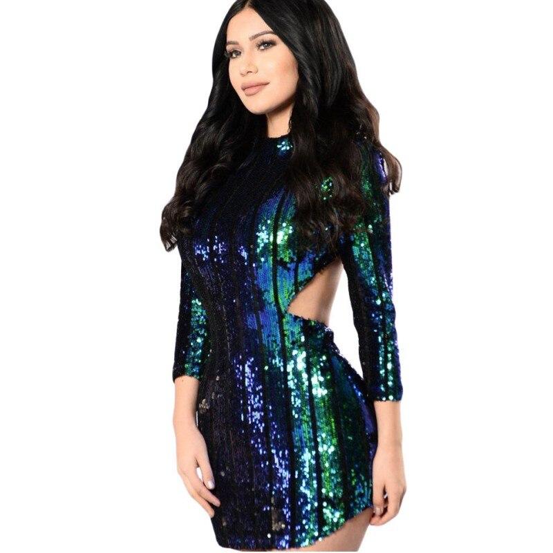 Tight Sequin Silver Dresses