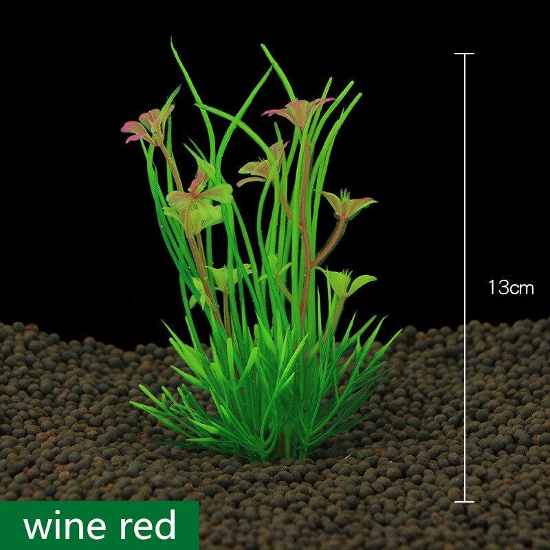 2017 New 13cm Underwater Artificial Aquatic Plant Ornaments For Aquarium Fish Tank Green Water Grass Landscape Decoration 1