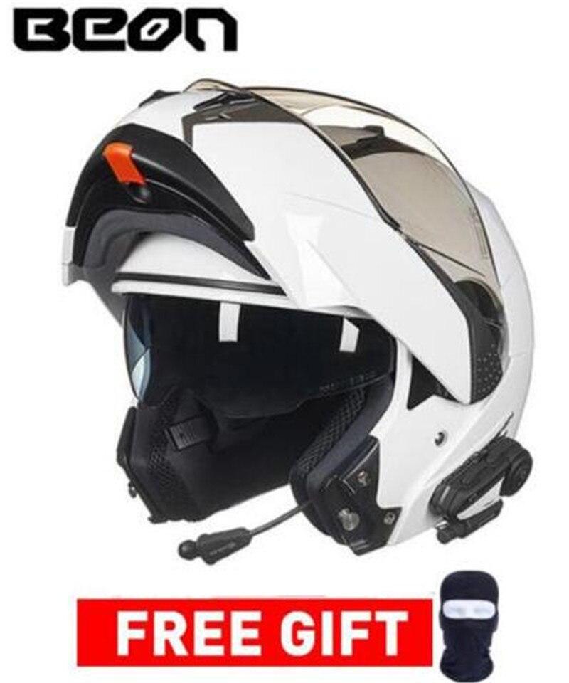 BEON Motocross Moto Capacete Dupla Viseira Completa Rosto Corrida Para Mulheres Dos Homens Casco do Capacete Da Motocicleta Moto Filp-se Capacete de Moto