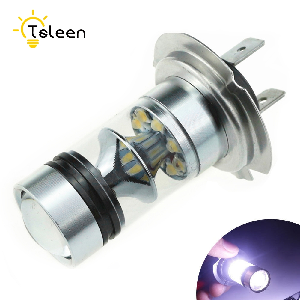 TSLEEN 4x 10W 1000LM SHARP Chip H7 LED Fog Lamp 12V-24V Car Daytime Driving Lights Universal High Power LED Bulb 6000K White wljh 2x 12v 24v 30v dc ac gold yellow white led h7 lamp light 18w chip cob driving daytime bulb car drl h7 headlights fog light