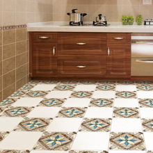 4pc High Quality Moroccan Pattern Waterproof Self-adhesive Anti-skid Home Decorative Room Bathroom Wall Floor Mat Decal Stickers