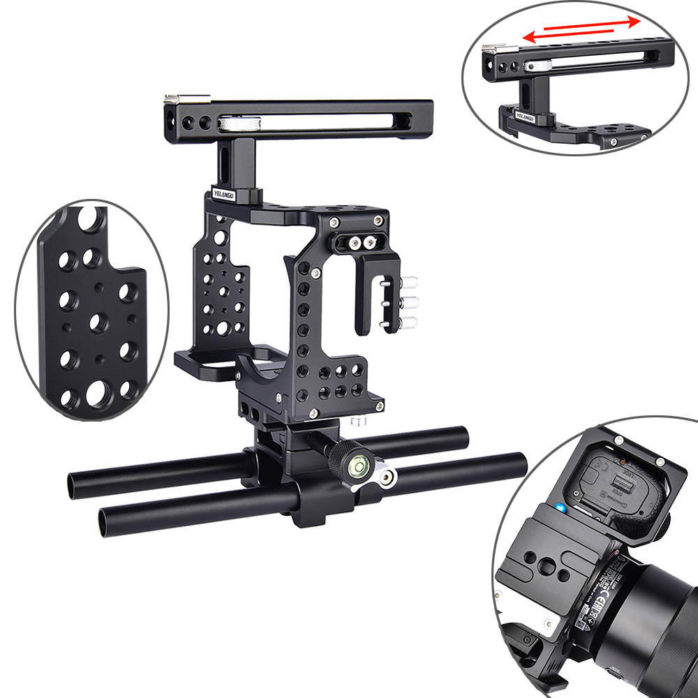 A7 Camera Cage Professional Handle DSLR Rig Video Camera Stabilizer For Sony Alpha A7 A7II A7III A7K A7S2 A7R2 A7R3 A7X