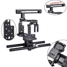 A7 กล้อง Professional Handle DSLR Rig Video Stabilizer สำหรับ Sony Alpha A7 A7II A7III A7K A7S2 A7R2 A7R3 a7X