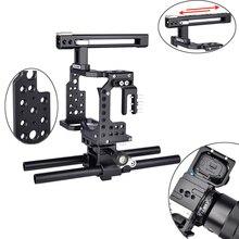 A7 kamera kafesi Profesyonel Kolu DSLR Rig Video Kamera Sabitleyici Sony Alpha A7 A7II A7III A7K A7S2 A7R2 A7R3 A7X