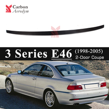 E46 Real Carbon Spoiler for BMW 3 Series Fiber M Style Trunk Wings Car Styling 1998-2005