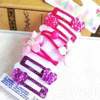 British Style Princess Flower Gril Elastic Hair Bands With Baby BB Toddler Hair Clips Bows Barrettes