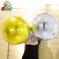 1 шт. 32 дюймов цвета: золотистый, серебристый 4D круглые воздушные шары из фольги одежда для свадьбы, дня рождения украшения гелий надувные ша...
