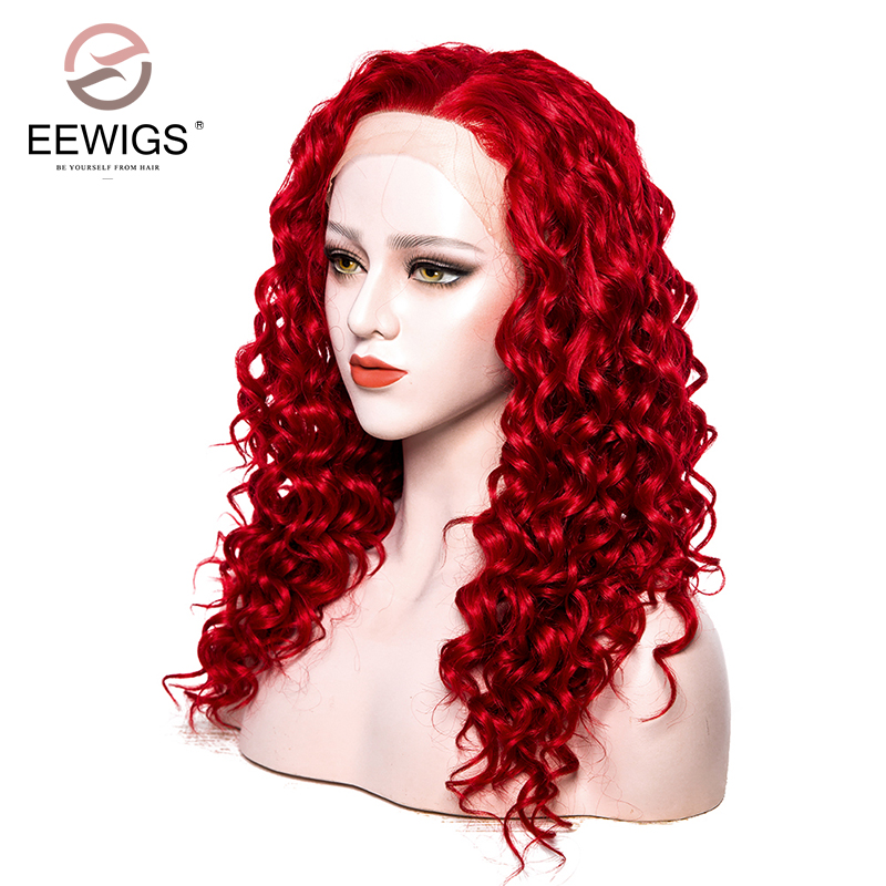 Aliexpress.com : Buy Long Red Kinky Curly Lace Front Wigs ...