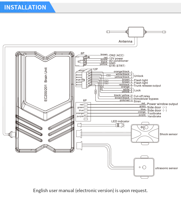 EASYGUARD 2 way car anti theft alarm keyless entry remote ... on ignition switch wiring diagram, keyless entry wiring diagram, starter switch wiring diagram, relay wiring diagram, latching relay circuit diagram,