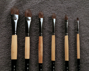 Image 4 - 6Pcs/Set Trition Smooth And Soft Squirre Hair Paint Brush For Acrylic,Aquarelle,Oil Painting Art Supplies Brushes For Artist
