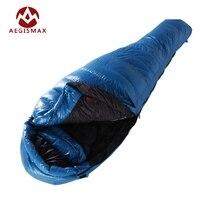 Aegismax Mummy Sleeping Bag White Goose Down M3 Lengthened Ultralight Box Baffles Winter Outdoor Camping Hiking 2 Size