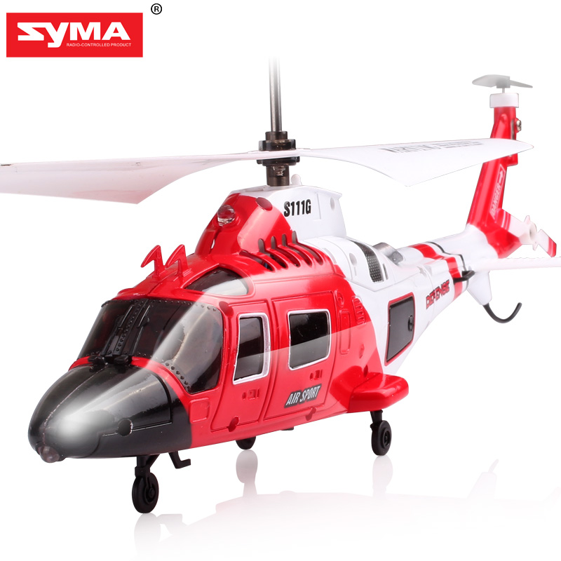 100% Original SYMA S111G Military RC Helicopter With Night Light Mini Drone Easy Control  Aircraft with Gyro Toys Gift Funny-in RC Helicopters from Toys & Hobbies