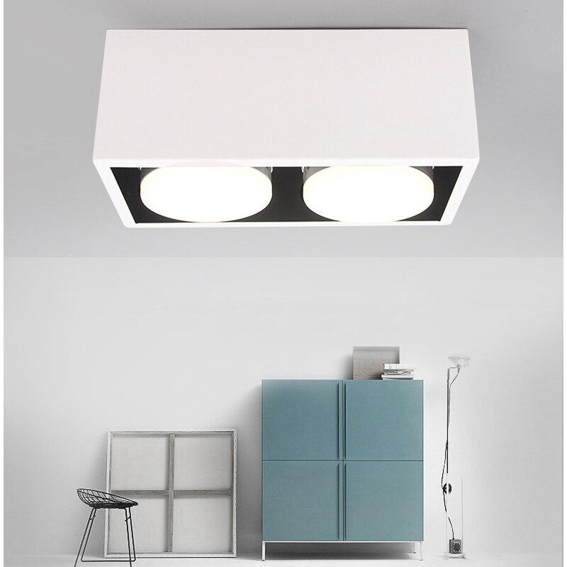 LED Deckenleuchten Doppel Spot Licht Led Lampen 2x9 Watt Führte GX53 Lampen  Rechteck Hause Deckenleuchte Beleuchtung Für Wohnzimmer