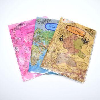 World Map Passport Holder Traveling Passport Cover Case Card & ID Holders Bag  Documents Folder Bag Travel Accessories