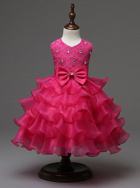 Baby Mädchen Kleid Hochzeit Prinzessin Blumenmädchen Kleid für ...