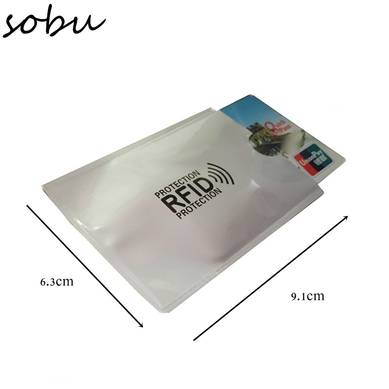 1pcs Anti Rfid Blocking Credit Card Holder Porte Carte Covers for Credit Cards ID Bank Card Case Card holder Identity Badge H039 2017 new top brand pu thin business id credit card holder wallets pocket case bank credit card package case card box porte carte