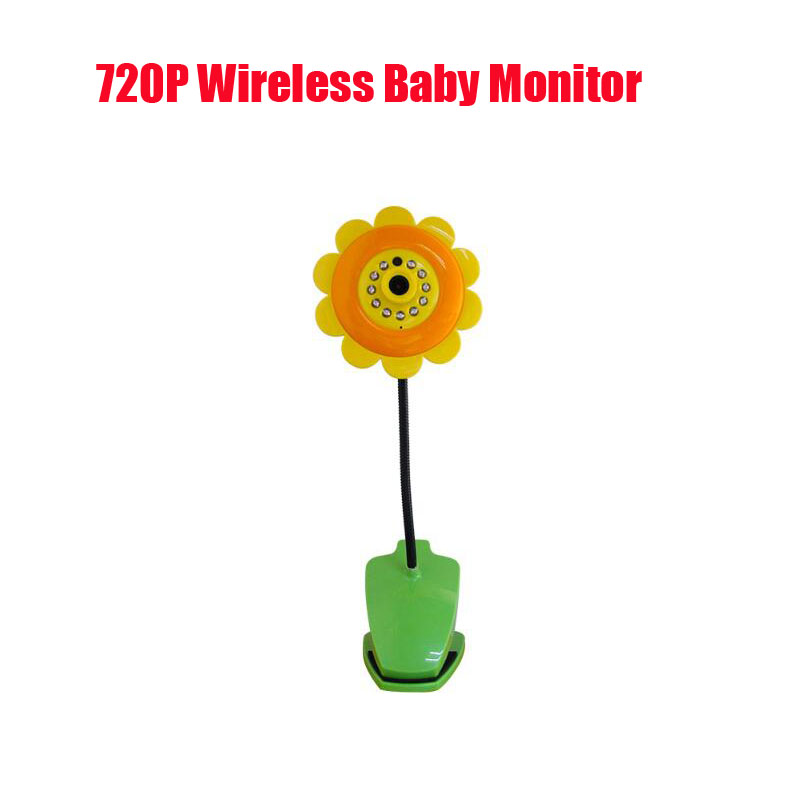 720p wireless baby monitor camera wifi camera V380 baby sunflower monitor camera