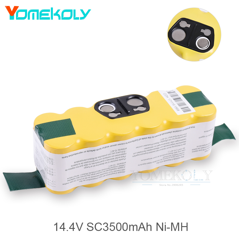 14.4V 3500mAh Ni-MH Battery for iRobot Roomba Vacuum Cleaner 500 650 600 700 770 780 Replacement Battery Vacuum Spart Parts for irobot roomba 500 aerovac vacuum cleaner accessory kit includes battery side brush ni mh 14 4v