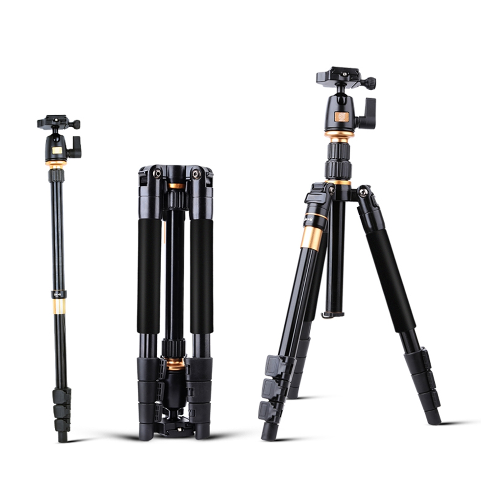 Professional Extendable QZSD Q555 55 5 Inches Aluminium Alloy Camera Video Tripod Monopod With Quick Release