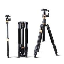 Professionnel Extensible QZSD Q555 55.5 Pouces En Alliage D'aluminium Caméra Vidéo Trépied Manfrotto Avec Quick Release Plate Stand